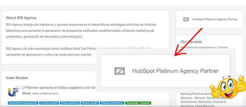 1era growth agency chilena nivel HubSpot Platinum Partner
