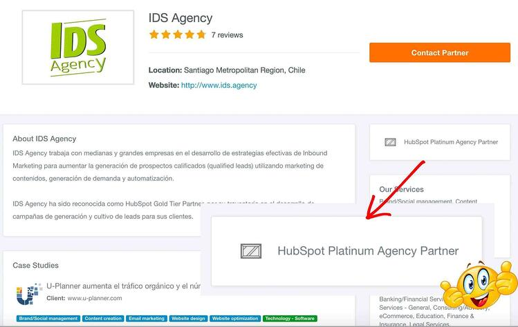 Inbound Marketing Agency in Chile Hubspot Platinum Tier