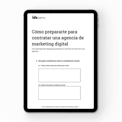 Cómo prepararte para contratar una agencia de marketing